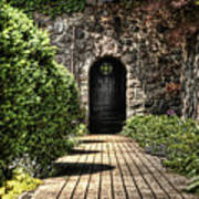 Sunken Garden Doorway Art Print
