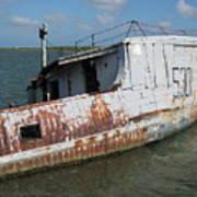 Sunken Shrimpboat Art Print