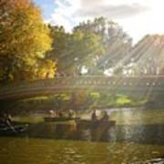 Sunlight And Boats - Central Park -  New York City Art Print