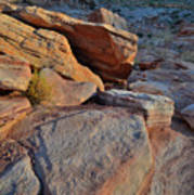 Sunlight Fades Out On Valley Of Fire Art Print