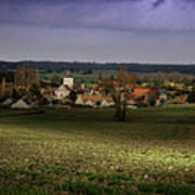 Sunlight Over The Loire Valley Art Print