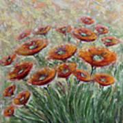 Sunlight Poppies Art Print