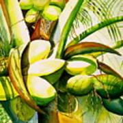 Sunlit Coconuts Art Print