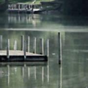 Sunlit Dock Art Print