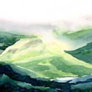 Sunlit Mountain Art Print