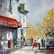 Sunlit Sidewalk - Neshkoro Art Print
