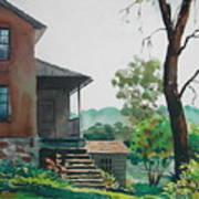 Sunlit Steps Art Print
