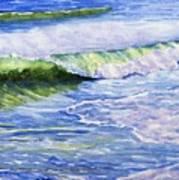 Sunlit Surf Art Print