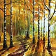 Sunny Birches Art Print