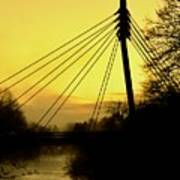 Sunny Bridge Art Print