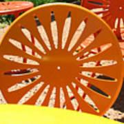 Sunny Chairs 4 Art Print