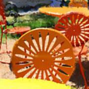 Sunny Chairs 5 Art Print