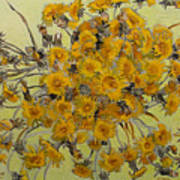 Sunny Dandelions Art Print