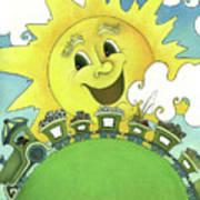 Sunny Day Train Art Print