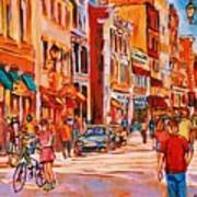 Sunny Downtown  Art Print