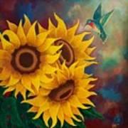 Sunny Faces Art Print