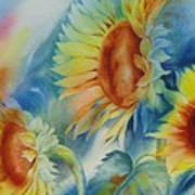 Sunny Flowers I Art Print