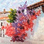 Sunny Morning In Greece Art Print