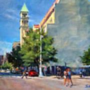 Summer Morning Near St. Michael's Church, Amsterdam Ave. Art Print
