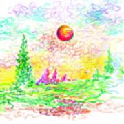 Sunny Orb Art Print