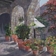 Sunny San Miguel Courtyard Art Print