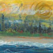 Sunny Side Beach Art Print