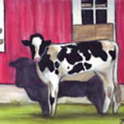 Sunny side of the barn Art Print