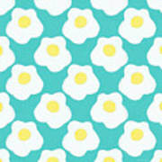 Sunny Side Up Eggs- Art By Linda Woods Art Print