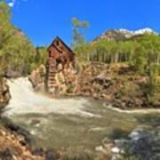 Sunny Skies Over The Crystal Mill Art Print