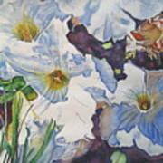 Sunny Summer Petuniias  Art Print