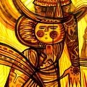 Sunny Warrior Art Print