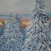 Sunrise After Snow Storm Art Print
