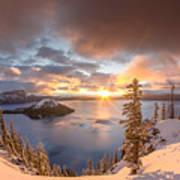 Sunrise After Summer Snowfall Art Print