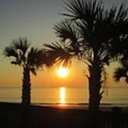 Sunrise And Palms Art Print