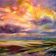 Sunrise And Tide Pool Art Print