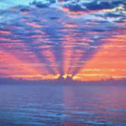 Sunrise At Atlantic Beach Art Print