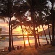 Sunrise At Catseye Beach Art Print
