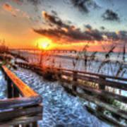 Sunrise At Cotton Bayou  Art Print