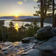 Sunrise At Emerald Bay In Lake Tahoe Art Print