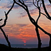 Sunrise At Fort Fisher Art Print