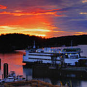 Sunrise At Friday Harbor Art Print