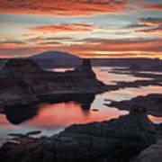 Sunrise At Lake Powell Art Print