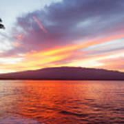 Sunrise At Ma'alaea Maui Art Print