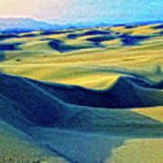 Sunrise At Oceano Sand Dunes  Art Print
