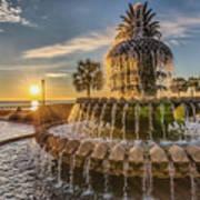 Sunrise At Pineapple Fountain Art Print