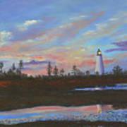 Sunrise At Point Prim Art Print