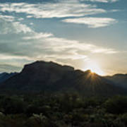 Sunrise At Sabino Canyon Art Print