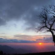 Sunrise At Saddle Overlook Art Print