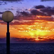 Sunrise At Sea Off The Delmarva Coast Art Print