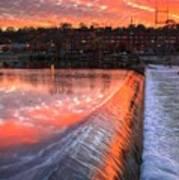 Sunrise At The Dam Art Print